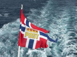 Postschiff an der norwegischen Küste. © Foto: Dr. Bernd Kregel