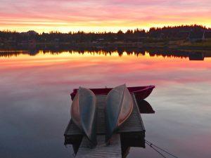 Abendliche Idylle bei Lillehammer. © 2014, BU/Foto: Rainer Hamberger