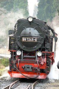 Dampflok der Brockenbahn in Drei Annen-Hohne. © 2014, BU/Foto: Dr. Bernd Kregel
