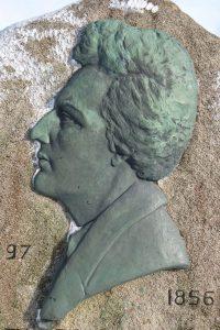 Heinrich-Heine-Relief auf dem Brocken. © 2014, BU/Foto: Dr. Bernd Kregel