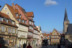 Rathausplatz in Quedlinburg. © 2014, BU/Foto: Dr. Bernd Kregel