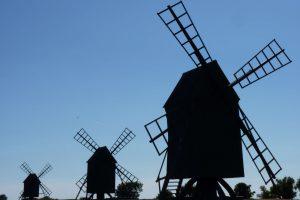 Typische Windmühlen auf Öland. © 2013, BU/Foto: Dr. Bernd Kregel
