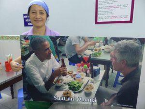US-Präsident Obama im Street Food Restaurant. © Foto: Dr. Bernd Kregel, 2016