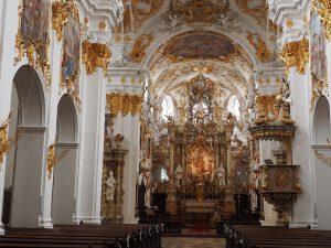 Stiftskirche zu Unserer lieben Frau zur Alten Kapelle in Regensburg, ein Meisterwerk des Rokoko. © Foto: Rainer Hamberger, 2016