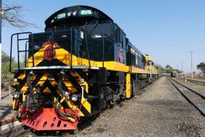 Rovos Rail im Bahnhof von Victoria Falls. © Foto: Bernd Kregel