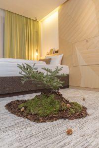 """Ansicht eines """"nachwachsenden Zimmers"""" im Creativhotels Luise in Erlangen. BU: Stefan Pribnow © Creativhotel Luise"""