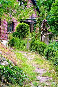 """Die Bauerngärten zeigen auch besondere """"Kunstwerke"""". © 2017, Foto: Elke Backert"""