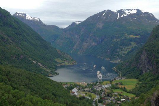 Der Geirangerfjord in Norwegen.