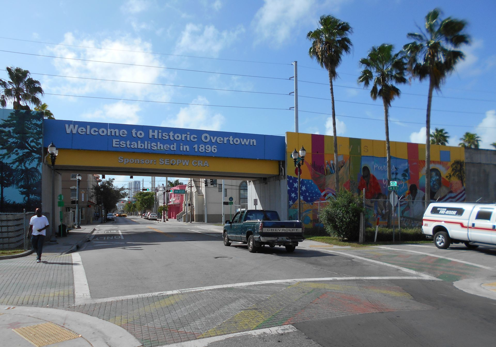 Overtown, Florida, USA.