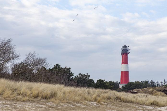 Der Hörnumer Leuchtturm wurde 1907 erbaut.