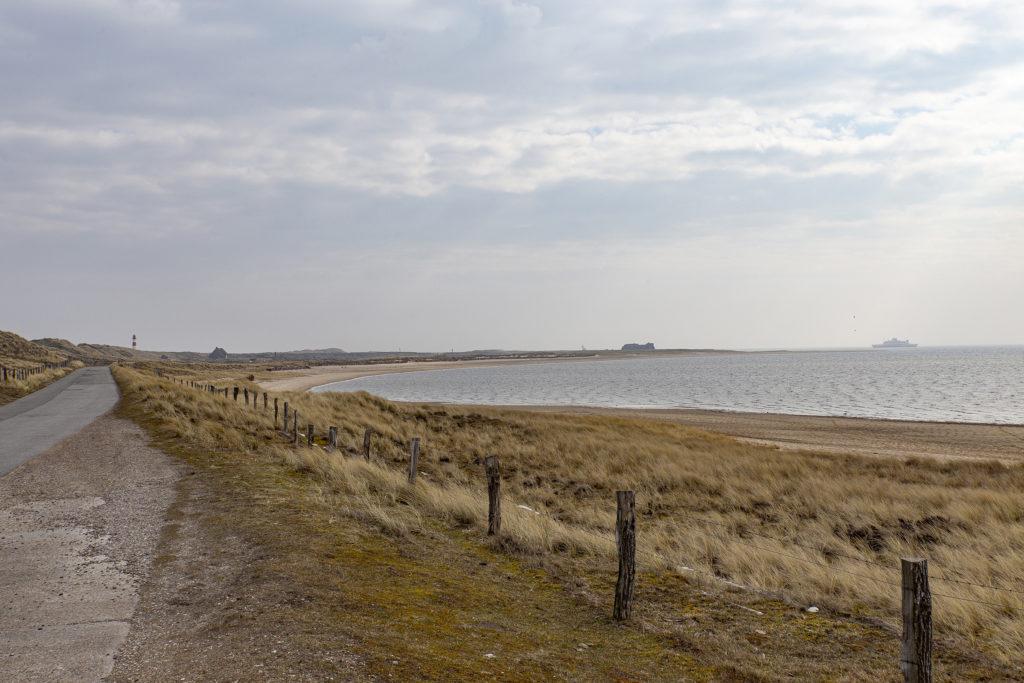 Im Hintergrund passiert die Fähre nach Rømø den Ellenbogen.