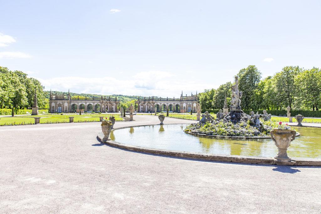 Ein Spaziergang ohne Hektik empfiehlt sich im barocken Schlossgarten.