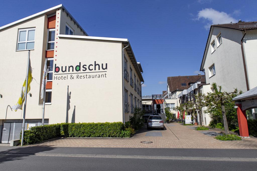 Das Hotel Bundschu in Bad Mergentheim.