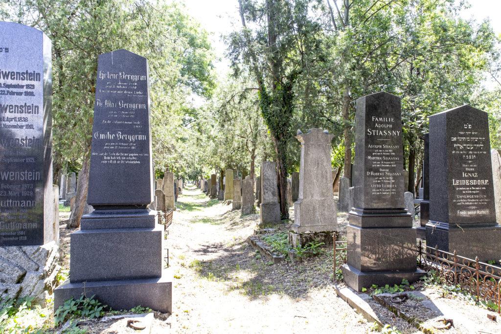 Der jüdische Teil des Zentralfriedhofs ist einen Besuch wert.